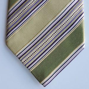 Ermenegildo Zegna Mens Striped Multicolor Necktie